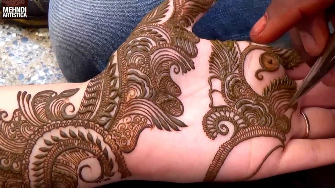 Step by Step Latest Mehndi Design For Hand